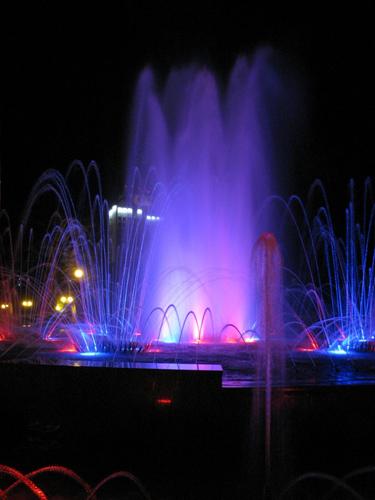 Центральный фонтан в Солигорске